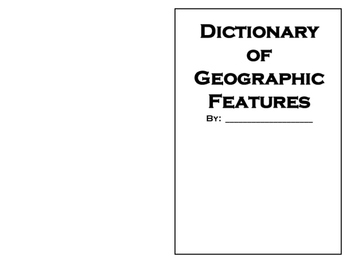 Geography Features and Land Forms Picture Dictionary