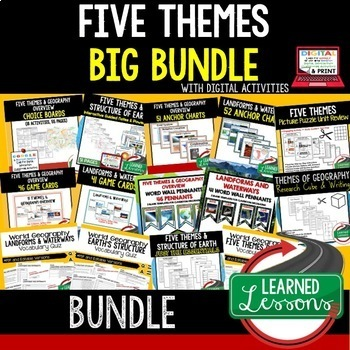 Geography Five Themes BUNDLE  (World Geography Bundle)