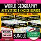 Geography Five Themes Activities, Choice Board, Print & Digital, Google