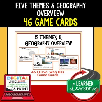 Geography Five Themes and Geography Basics I Have Who Has Game Cards 46