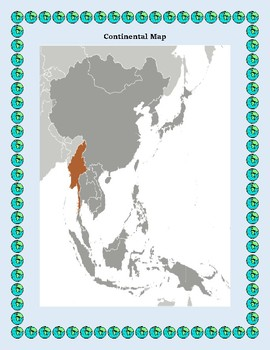Burma Geography, Flag, Maps, Assessment - Map Skills and Data Analysis