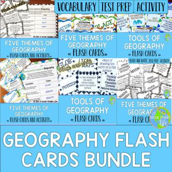Geography Flash Cards BUNDLE