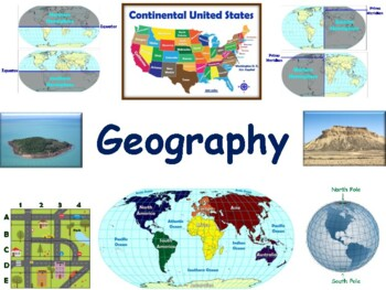 Geography Flashcards - task cards, study guide, state exam prep