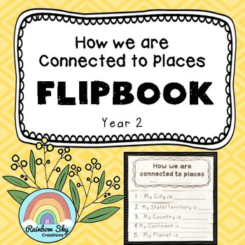 Geography Flipbook - Australia How we are connected to places - Year 2
