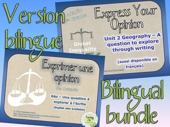 Geography - Global Inequalities Bilingual French English Bundle