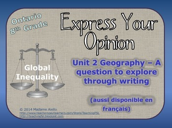 Geography - Global Inequalities writing task