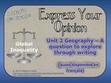 Geography - Global Inequalities writing task