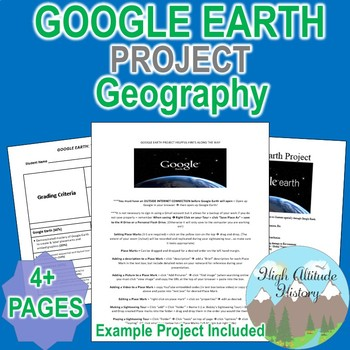 Google Earth Project (Instructions, Rubric, Example Projec