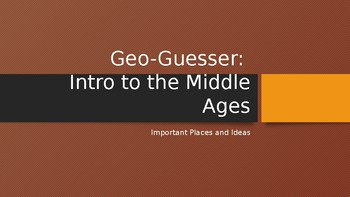 Geography Guess- Middle Ages