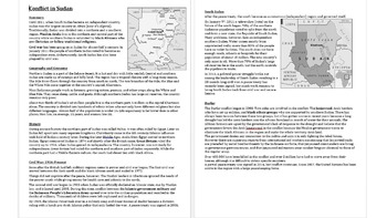 Geography & History of Sudan, South Sudan & Darfur