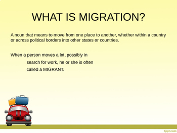 Geography: Human Migration PowerPoint.