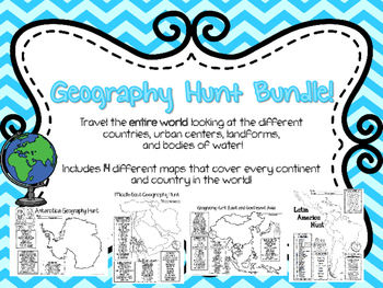 Geography Hunt BUNDLE: The WHOLE world