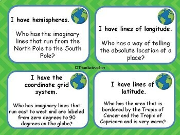Geography I Have Who Has? Game