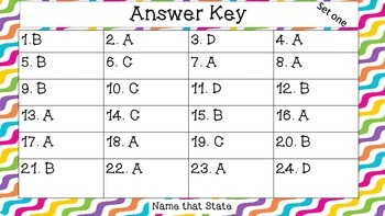 Geography -Identify the States {48 Task Cards}