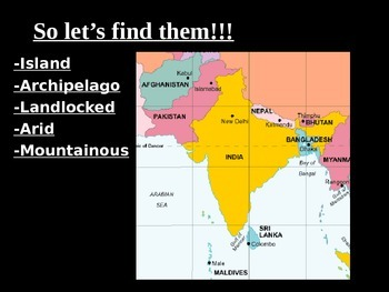 Geography - India basics powerpoint