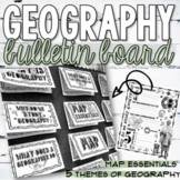 Geography Interactive Bulletin Board and Doodle Notes w/ Digital Option