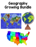 Geography Interactive Notebook Growing Bundle