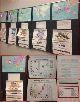 Geography Interactive Notebook & Me on the Map (Google Classroom & PDF)