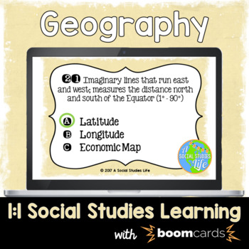 Geography Interactive Task Cards