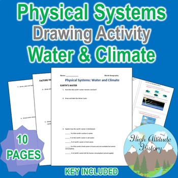 Physical Systems Water and Climate Worksheet Drawing Activity (Geography)