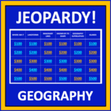 Geography Jeopardy - an interactive social studies game