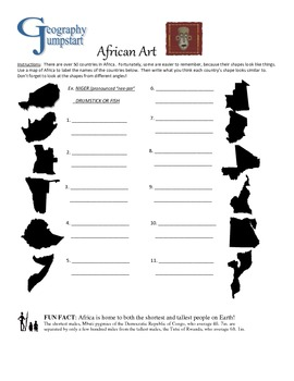 World Geography Jumpstarts Unit 5:  Middle East/Africa activities & mini-lessons