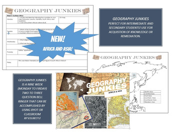 Geography Junkies Nine Week Bell Ringer--Africa & Asia