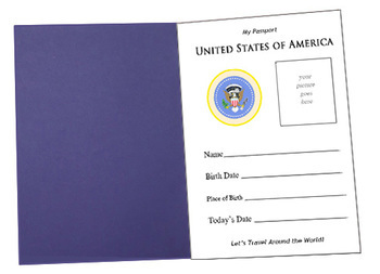Let's Go Geography:  Make a U.S. Passport