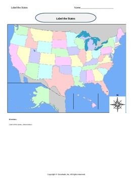 Geography Label the States
