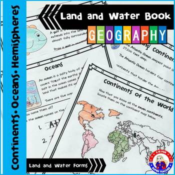 Geography - Land and Water Book - NO PREP