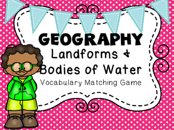 Geography Landform Matching Cards