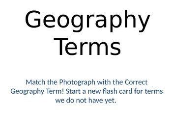 Geography Landform Terms