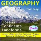 Geography - Landforms - Continents and Oceans