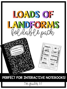 Geography Landforms Foldable