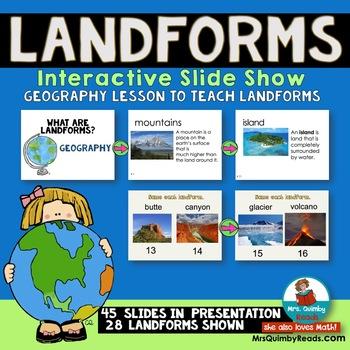 Geography - Landforms Powerpoint Presentation