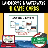 Geography Landforms & Waterways Game Cards