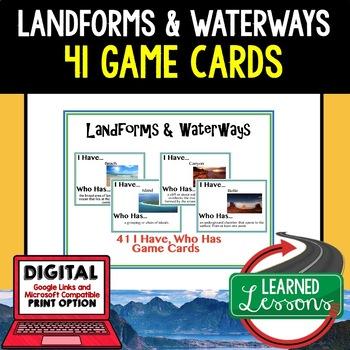 Geography Landforms & Waterways Game Cards