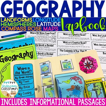 Geography Lapbook Interactive Kit, Maps and Globes, Map Skills