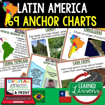 Geography Latin America Anchor Charts (69 Charts)