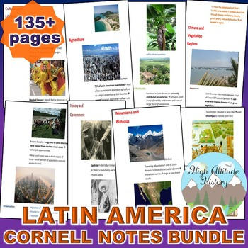 Latin America and Sustainability Cornell Notes *Bundle* (Geography)