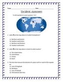 Geography:  Latitude, Longitude and Hemispheres -ASSESSMENT 3rd SS