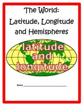 Latitude And Longitude And Hemispheres Worksheets & Teaching ...