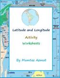 Geography: Latitude and Longitude Activity Worksheets