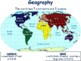Geography Lesson - bell ringer exit tickets study guide state exam prep