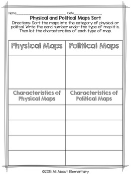 Third Grade Geography Activities by All About Elementary | TpT