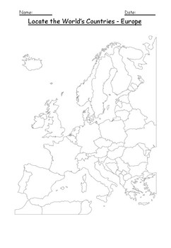 map of the countries in europe teaching resources teachers pay Map of Europe Before Holocaust geography locate the world s countries using maps to focus on europe ks2