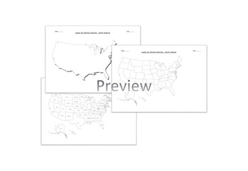 Map Of North America Ks2.Physical And Human Characteristics Worksheet Teachers Pay Teachers