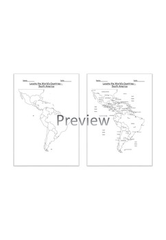 Geography: Locate the World's Countries, using maps to focus on South America