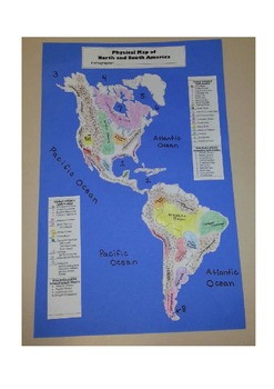 Geography:  Make-Your-Own PHYSICAL map of North and South America