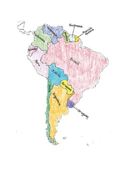 Geography:  Make-Your-Own POLITICAL maps of North and South America